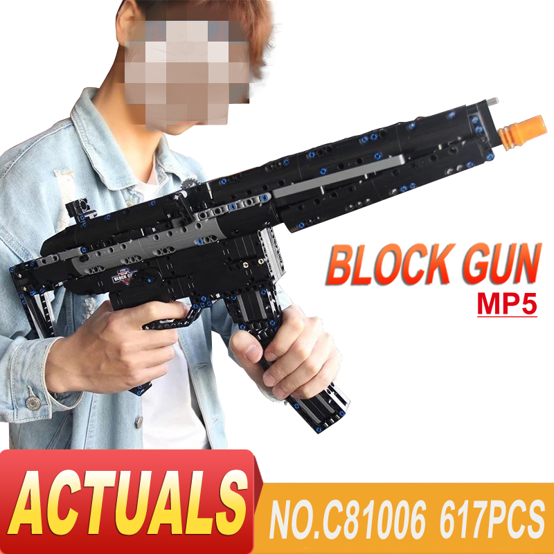 Technic Arms Building Block ak47 MP5 Toy Gun Model Assembled Brick Set Weapon Compatible Legoe Boy Educational Toys for Children