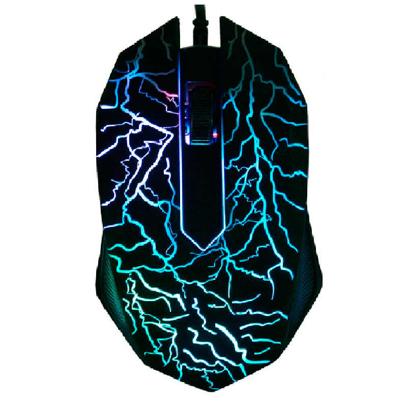 3 Buttons USB Wired Luminous Gamer Computer Gaming Mouse 3200DPI LED Small Special 3D Shaped Portable Computer Souri Gamer Mouse