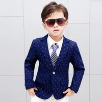 2019 Spring New Kids Blazer Baby Boys Clothes Single Button Print Casual Suit Teenage Children's Blazer Kids Clothing Y279