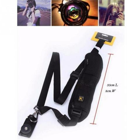 Single Shoulder Sling Belt Strap for DSLR Digital SLR Camera Quick Rapid K Letter fast gunman for Canon Nikon Sony Cameras #0225 Lahore