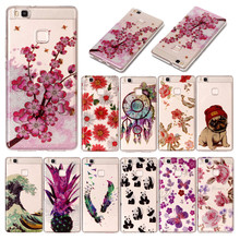 Huawei P9 Lite G9 VNS-L21 Case Transparent Animal Flower Anime Silicone TPU Soft Back Cover Case for Huawei P9 Lite VNS-L23 5.2