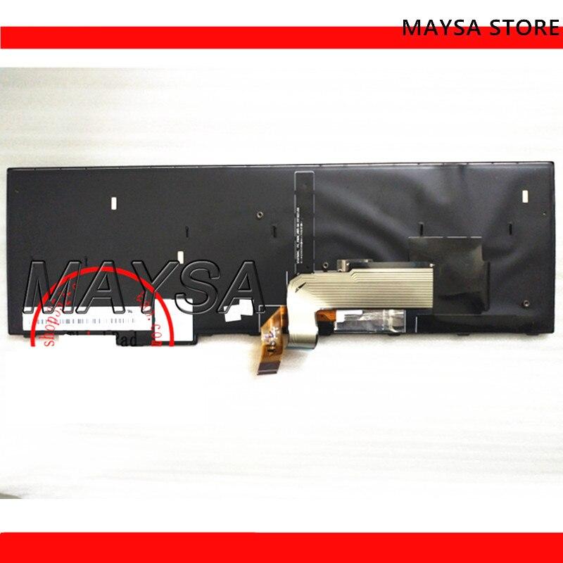 Clavier américain rétro-éclairé pour Lenovo Thinkpad E560P S5 rétro-éclairage Teclado 00UR591 SN20K12624