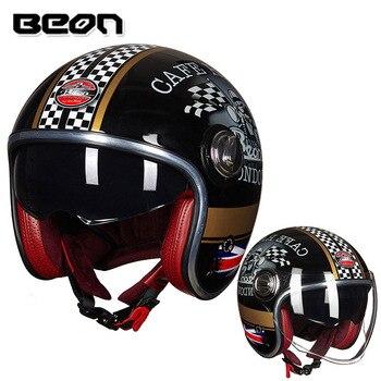 BEON B-108A moto rcycle шлем 3/4 открытые шлемы moto cross винтажный шлем casque Casco Capacete ретро-шлем >> CYCLES CLUB