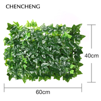 40*60cm Artificial Plant Lawn Fake Green Grass Pile Wall Gourd grass artificial plant wall decoration wedding hotel background