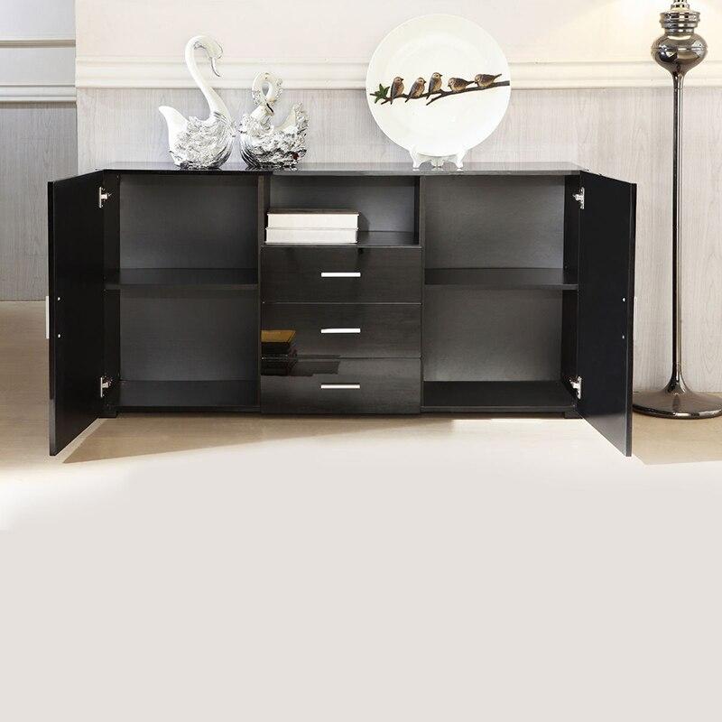 shellhard moderna armario armario aparador negro de alto brillo soporte tv despacho de casa muebles de