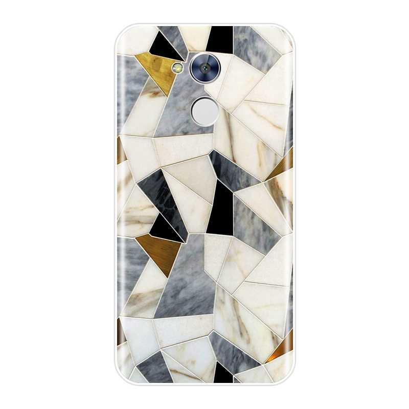Tylna pokrywa dla Huawei Honor 4X 5A 5X6 6X czarny geometryczny marmur miękkie silikonowe etui na Huawei Honor 4C 5C 6C 6A Pro etui na telefon