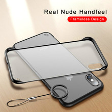 Case For iPhone 7 8 6 6s Plus X Xs Max XR Casing Luxury Frameless Ring Design Scrub Hard PC Back Cover Phone Bag