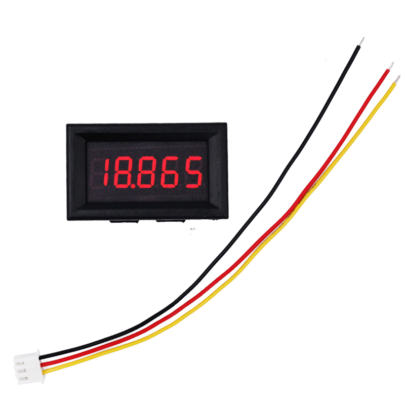 100pcs/lot 3 wires 0.36 5 Bit led display DC 0-33.000V Panel Volt Voltage Meter Automotive Digital Car Voltmeter 20% off