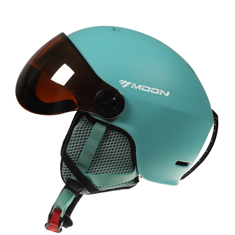 ムーンゴーグルスキーヘルメット一体成形 Pc + EPS カラフルなスキーヘルメットアウトドアスポーツスキースノーボードスケートボードヘルメット  グループ上の スポーツ & エンターテイメント からの スキー ヘルメット の中 3