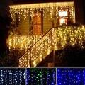 Cortina de LED sincelo fada luzes cordas 4 m 100 leds bar de gelo lâmpadas de natal 110 V / 220 V ano novo jardim Wedding Party Xmas Decor