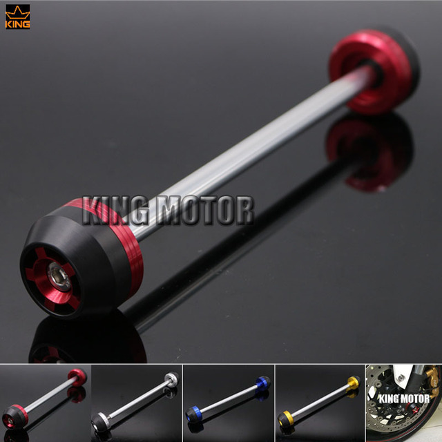 For SUZUKI GSR750 GSR 750 2011-2014 Motorcycle Accessories CNC Aluminum Front Axle Fork Crash Sliders Wheel Protector Red