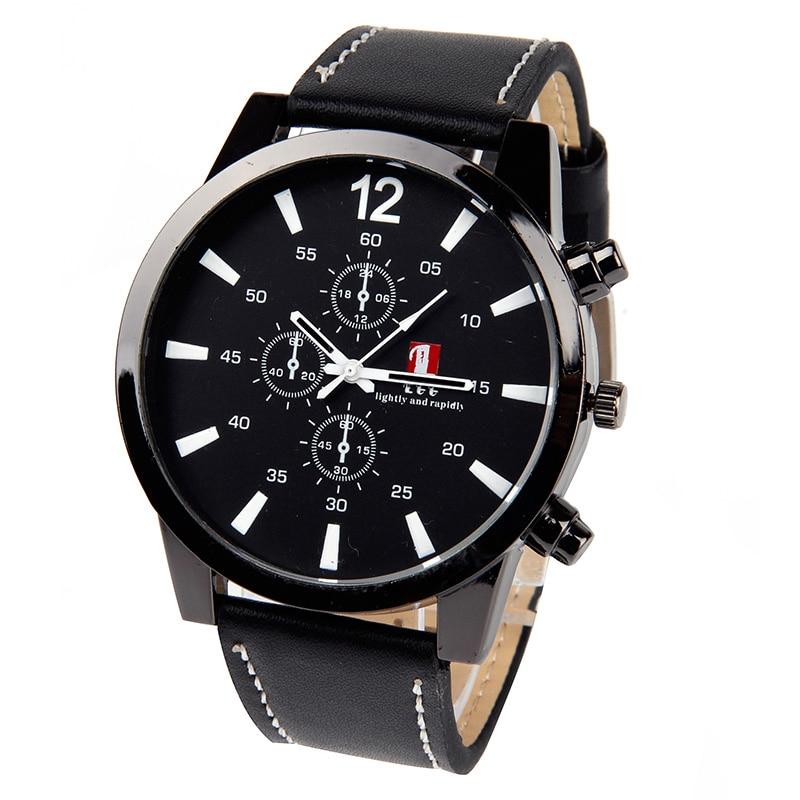 цены  Luminous Men Watch Luxury Top Brand business Male Clock Quartz-WristWatch Leisure Fashion Leather quartz watch Relogios