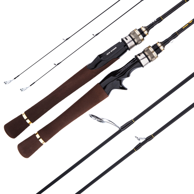 CU DOUBLE NEW 1.8m Lure Fishing Rod Fast Action UL/L Tips Carbon Spinning Rod Jigging Fishing rod 2 sections Fishing Tackle 6