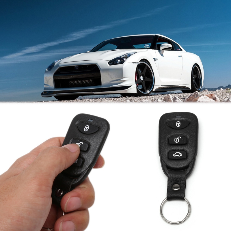 Universal Car Alarm Systems Auto Door Lock Vehicle Keyless Entry Remote Central w/Control Box LED indicator Remote trunk release