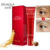 BIOAQUA Brand Snail Essence Eye Cream Red Ginseng Moisturizer Ageless Fade Fine Line makeup Gel Remove Dark Circle Skin Care Skin Care