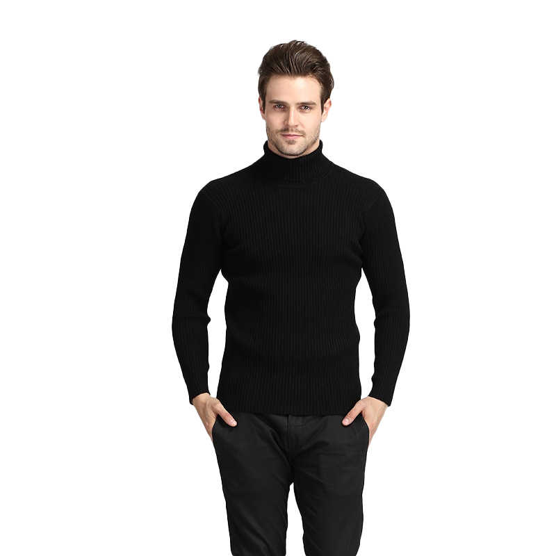 Men Winter Thick Warm Cashmere Sweater Turtleneck Sweaters Slim Fit Pullover Men Classic Wool Knitwear Pull Homme