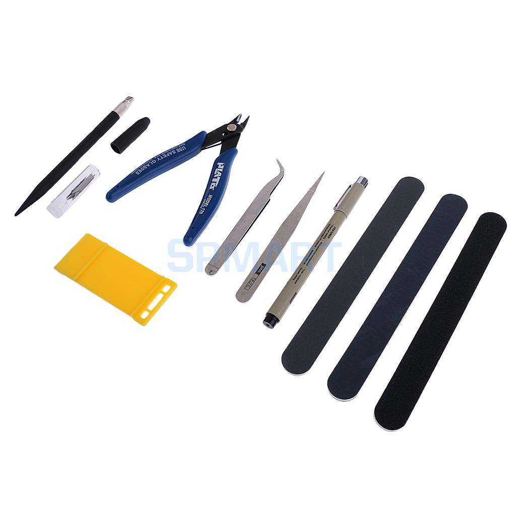 7Pcs Model Making Tools Kit for Car Model Building Making Tweezers Cut Pliers Polished Professional Tool for Gundam Model