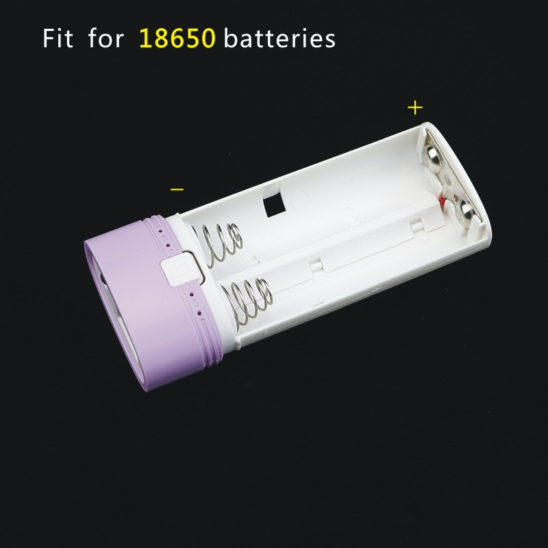 18650 Lithium Ion Batery 2 slots Rechargeable Charger Box With LED Light Power Bank Case For 18650 intelligent battery Charger