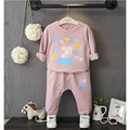 Children Clothing Girls Set Kids Clothes Sport Suits Toddler 2 PCS   Children cartoon girl in casual fashion T-shirt pants piece