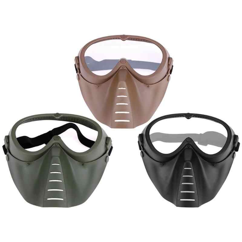 Adjustable Cycling Full Face Mask Shock Resistance CS Game Paintball Shooting Outdoor Tactical Goggles Protection Face Mask New