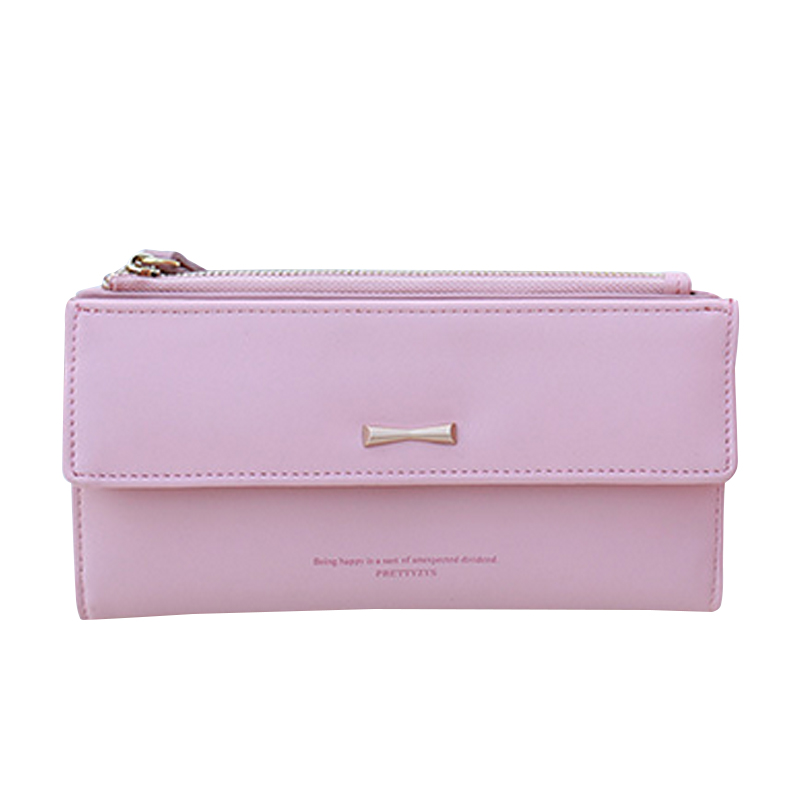 New Fashion Women Bow Bifold Long Wallet Female Zipper Hasp Coin Bag Card Holder Sweet Girl Clutch Purse Feminina Carteira japan anime katekyo hitman reborn wallet cosplay men women bifold coin purse