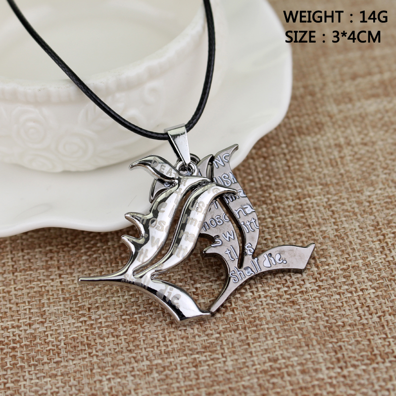 Popular Comic Death Note Double l Yagami Non-Mainstream Necklace Smart Anime Fashion Pendant Jewelry Cosplay Unisex Accessories