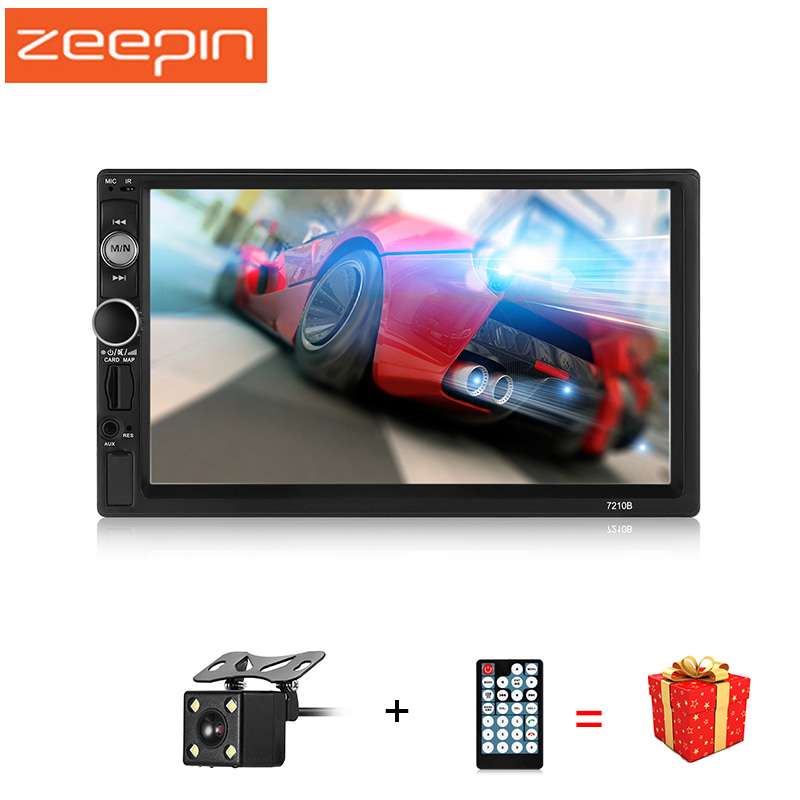 ZEEPIN Universal Bluetooth Car MP5 Players 2din Mirror Link Car Radio Player FM AM RDS Auto Video Remote Control Rearview Camera rk 7157b 7inch 2din car mp5 rear view camera fm am rds radio tuner bluetooth media player steering wheel control