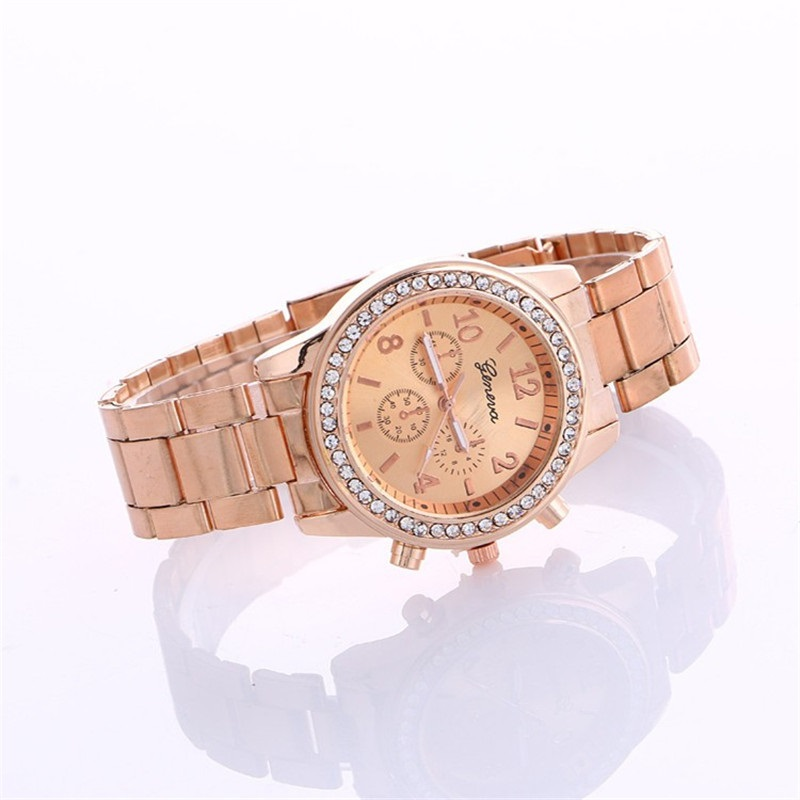 45c3d8d6d Lovesky 2018 New Fashion Faux Chronograph Plated Classic Geneva Quartz  Ladies Watch Women Crystals Wristwatches Relogio Feminino-in Quartz Watches  from ...