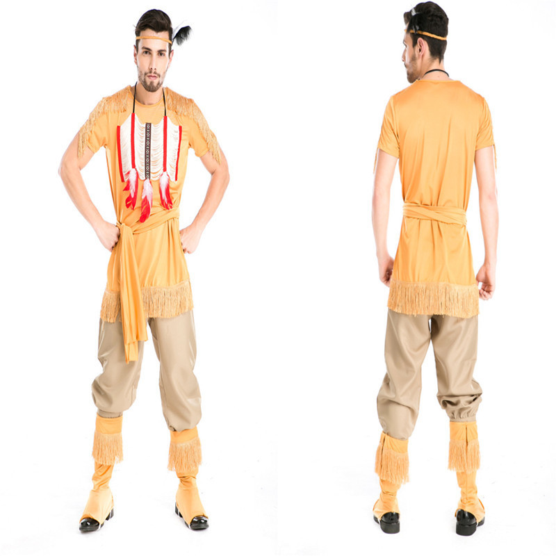 3f3f75887b Halloween Costumes Adult Men Indian Hunter Archers Costume Uniform Fancy  Cosplay Clothing For Men-in Holidays Costumes From Novelty U0026 Special  Use On ..