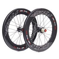 JAVA Decaf 20 406 Carbon Mini Velo Wheelsets Disc Brake 60mm Width 100mm 135mm 8 11 speed Folding Bike Minivelo Wheels Rim
