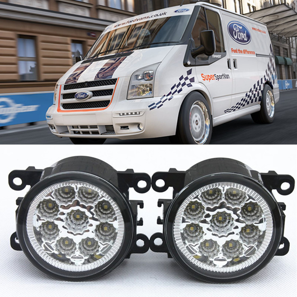 For FORD TRANSIT Box 2006-2015 Car-Styling Led Light-Emitting Diodes DRL Fog lamps 1set for nissan x trail t30 2001 2006 car styling led light emitting diodes drl fog lamps