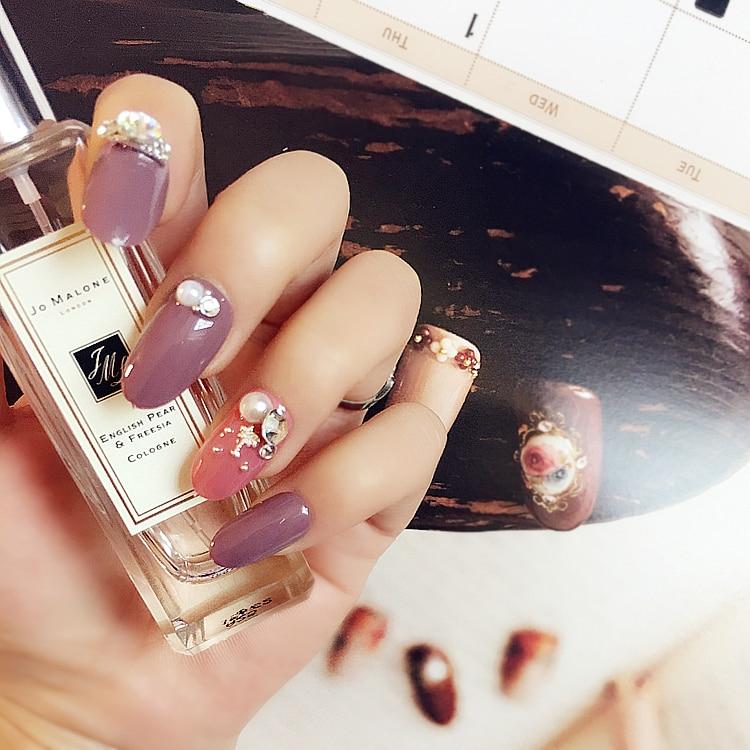 Asombroso Uñas Diseños De Color Rosa Y Púrpura Bosquejo - Ideas de ...