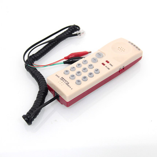 Telephone Phone Line Network Cable Tester Butt Test Tester RJ11 Tester Lineman Tool Cable quality 2m 4c telephone line rj11 6p4c connector phone cable pure copper wire for pbx analog digital phone customizable 1 100m