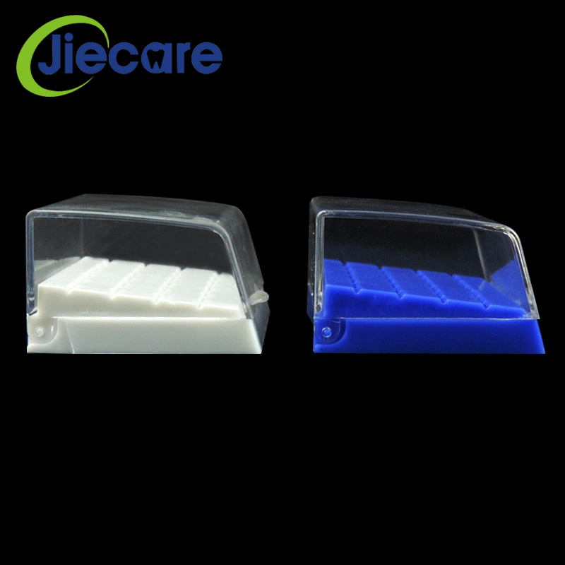 1 PC 24 Holes Hot Sale Plastic Dental Bur Holder Disinfection Block Case Box Dentist Products Lab Equipment Blue/White New