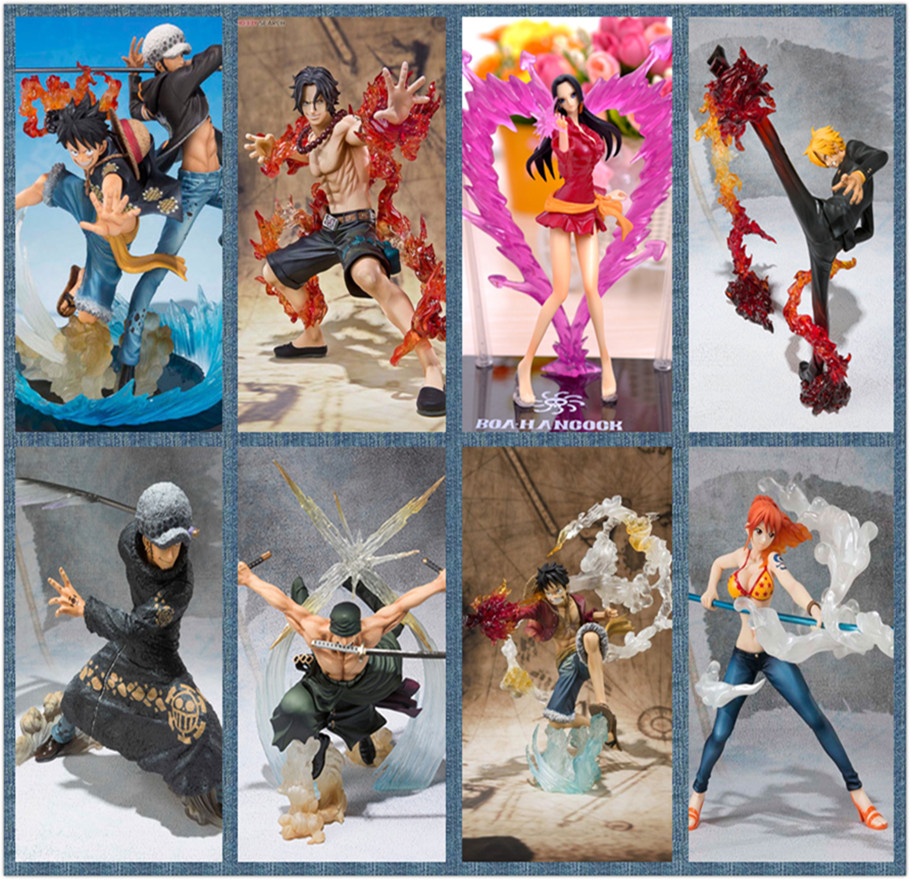 One Piece Action Figures Luffy Law Ace Zoro Nami Sanji Boa Hancock PVC Figure One Piece Nami Model Toy Onepiece-Action-Figures free shipping new anime one piece boa hancock pvc action figure hancock fighting style figure model toy 15cm