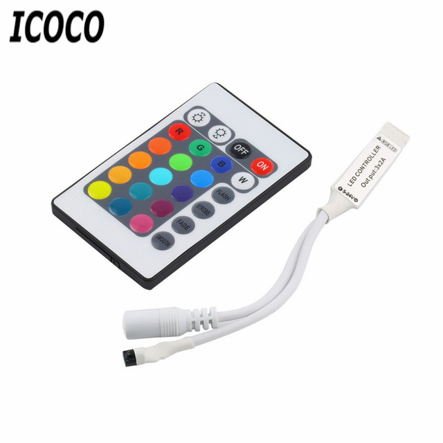 Icoco mini controller 24 keys ir remote controller wireless for icoco mini controller 24 keys ir remote controller wireless for smd3528 smd5050 rgb led strip lights aloadofball Images