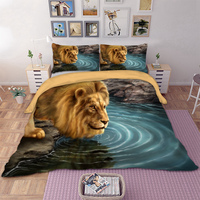 Lion HD Print Bedding Set for comforter US Twin Queen King AU Single Double Queen King Sizes Duvet Cover set with pillowcase