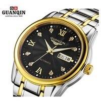 الأصلي guanqin أعلى ماركة الساعات الرجال الساعات الفاخرة أزياء رجالية مصمم كبير الهاتفي الميكانيكية التلقائية ووتش relogio masculino