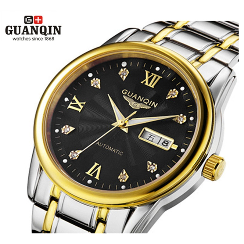 Original GUANQIN Watches Men Watch Luxury Top Brand Fashion Men's Big Dial Designer Mechanical Automatic Watch Relogio Masculino new fashion men watches top brand luxury guanqin quartz watch men s big dial designer male wristwatch relogio masculino