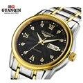 Original guanqin relojes reloj de los hombres de primeras marcas de lujo moda hombres grandes dial diseñador mecánico automático reloj relogio masculino
