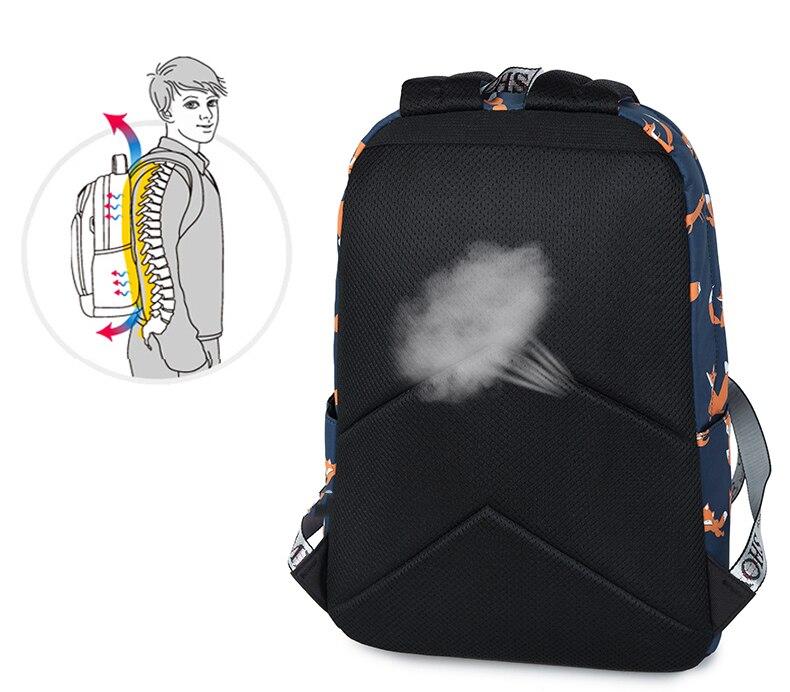 WINNER Cute Animal Fox Printing School Backpacks Waterproof Women Bag Laptop Backpack Female Mochila Bolsas E Sacolas (11)