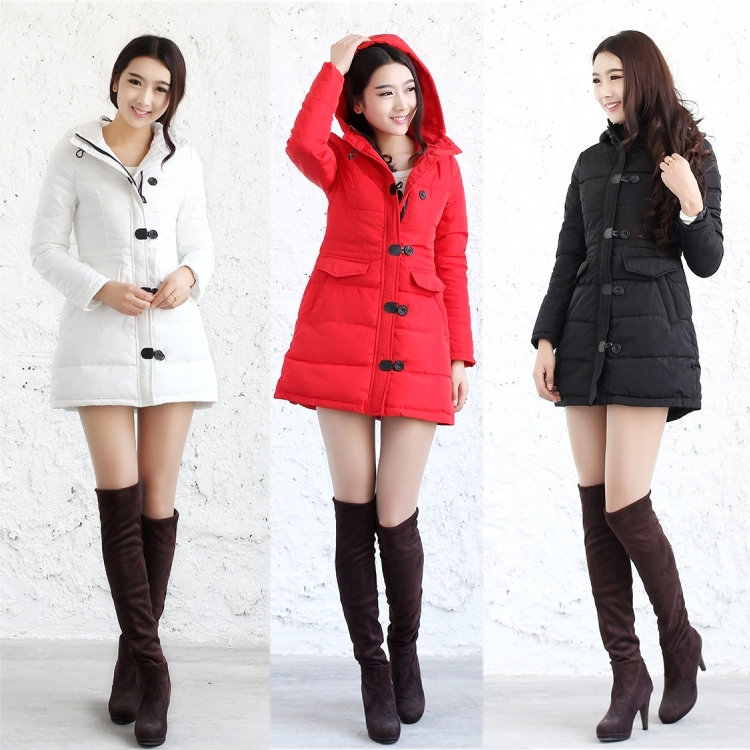 Hot Sale 2015 Women Hooded Slim Coats Fashion Winter Elegent Thicken Jackets Ladies Long Wadded Parkas Overcoats H4593 new 2015 winter hooded floral wadded parkas coats women plus size slim overcoats ladies cotton padded jackets h4493