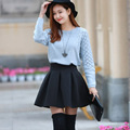 Высокое качество мода осень и зима юбка Большой размер высокая талия короткие юбки 3 цветовое пространство пачка согреться женщин юбка