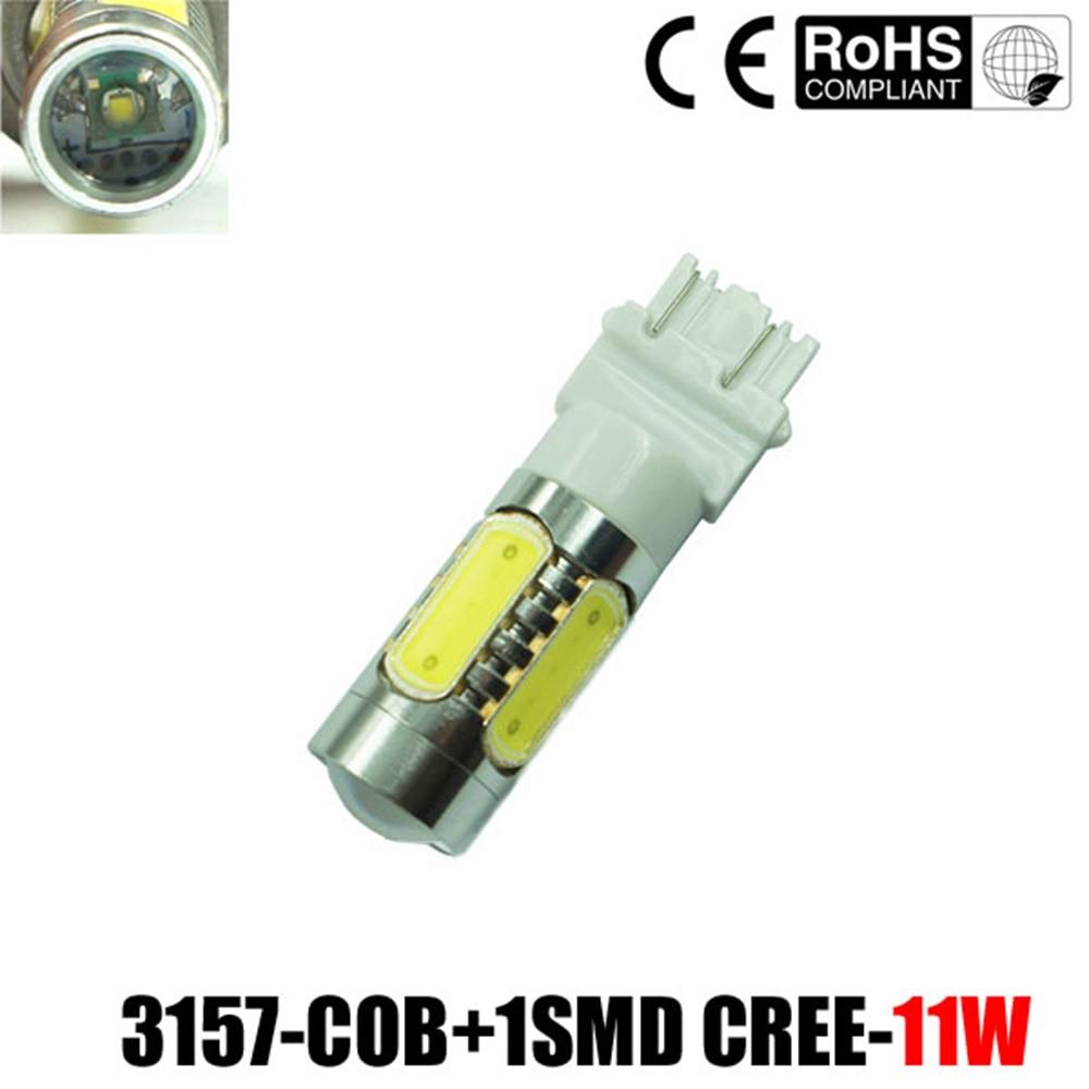 2PCS 3157 11W High Power White LED COB Backup/Reverse Light Bulbs 3057 3155 4144