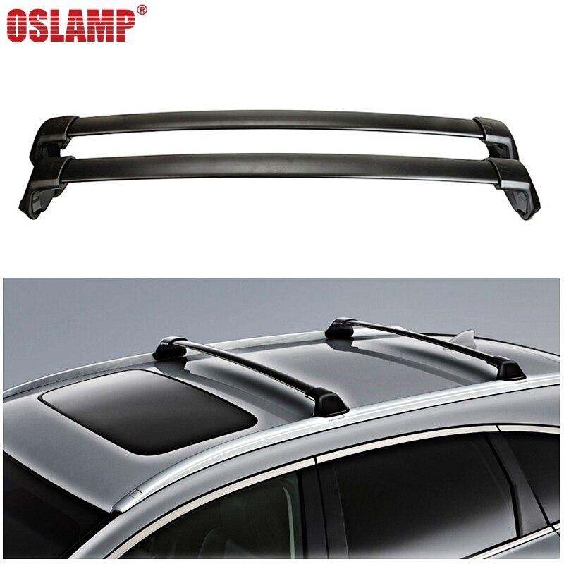 Oslamp 2pcs 60KG 132LBS Car Roof Racks Cross Bars Black Crossbars Cargo Luggage Top Carrier Snowboard