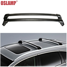 Oslamp 2pcs 60KG 132LBS Car Roof Racks Cross Bars Black Crossbars Cargo Luggage Top Carrier Snowboard for Honda CRV 2012-2016