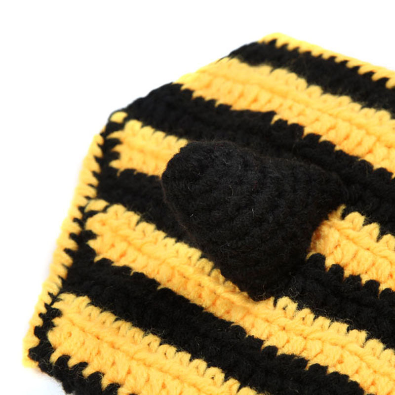 Baby Crochet Bumble Bee Hat And Diaper Cover Outfit Newborn Boy Girl