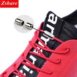 Модные эластичные обувь на шнурках и застежке шнурки без завязок Новый простота круглый металлический наконечник шнурки Досуг быстро