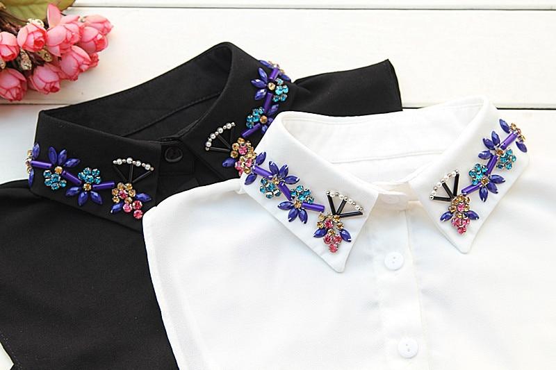 Flower Shape Pearl Fake Collar White Shirt Collar Women False Decoration Collar!