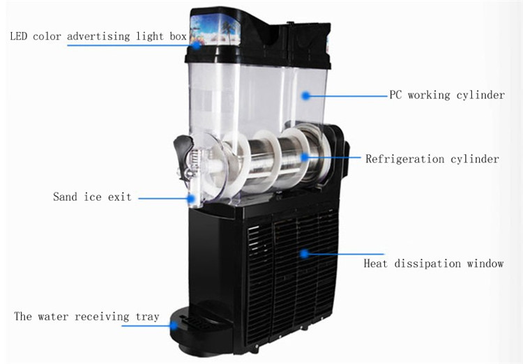 The Popular Of Slush Machine 15L Snow Melting Slush Ice Machine For Sale